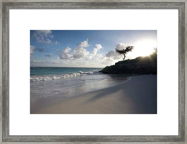 Barbados, Tropical Beach Framed Print