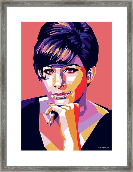 Barbra Streisand Pop Art Framed Print