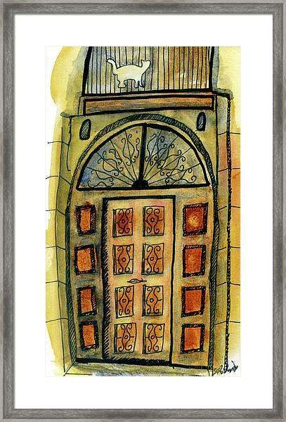Barcelona Door Framed Print