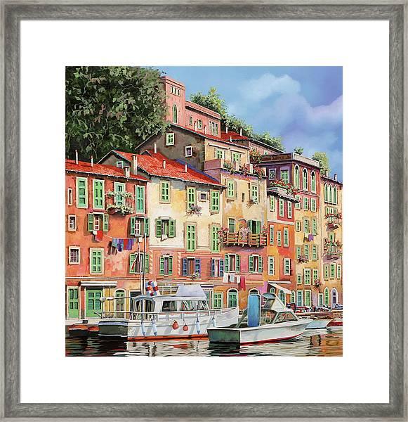 Barche Al Porto Framed Print