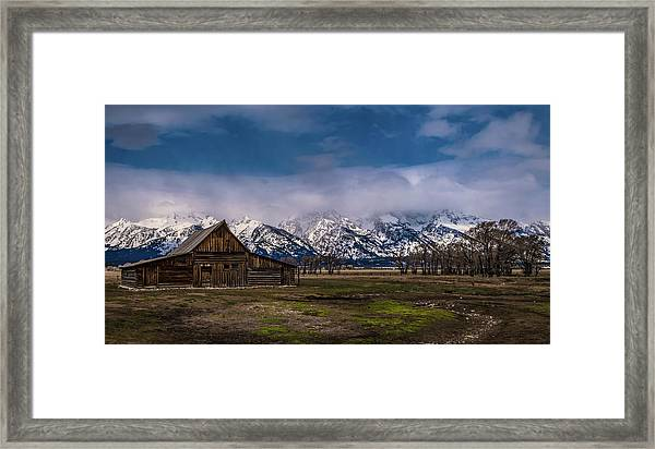 Barn At Mormon Row Framed Print