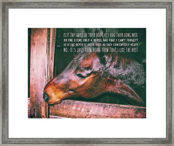 Barn Bay Quote Framed Print