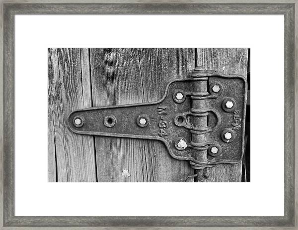 Barn Hinge Framed Print