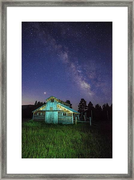 Barn In Rocky 2 Framed Print