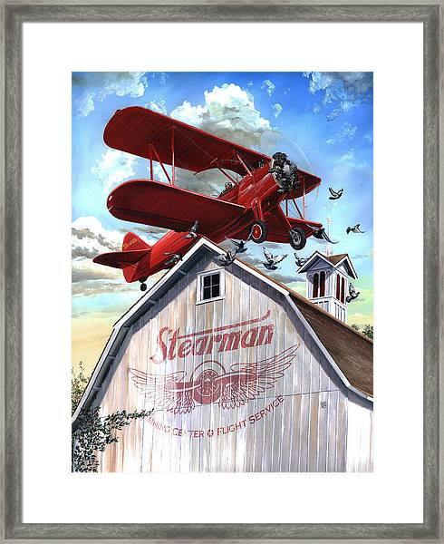 Framed Print featuring the painting Barn Stormer - Customizeable by Clint Hansen