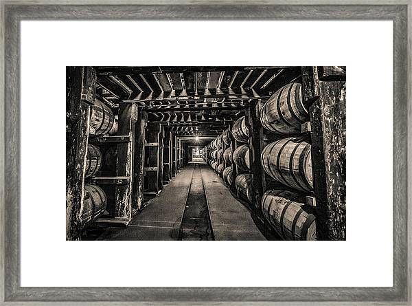 Barrel Aging Bourbon Framed Print