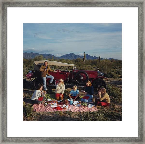 Barrett Family Picnic Framed Print