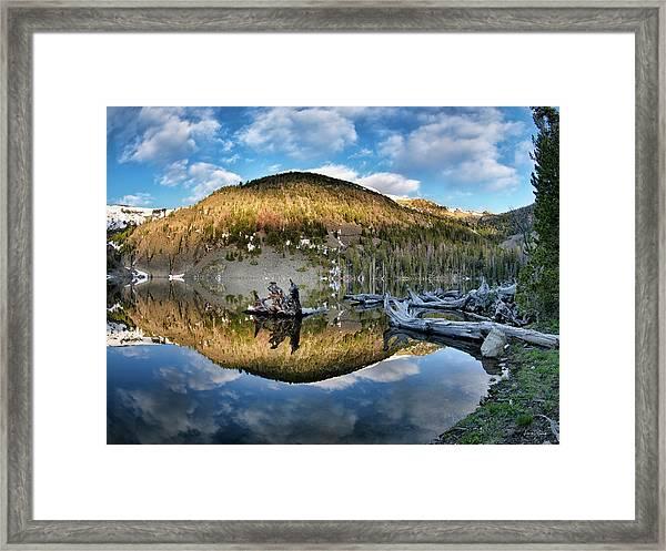 Basin Lake Sunrise Framed Print by Leland D Howard