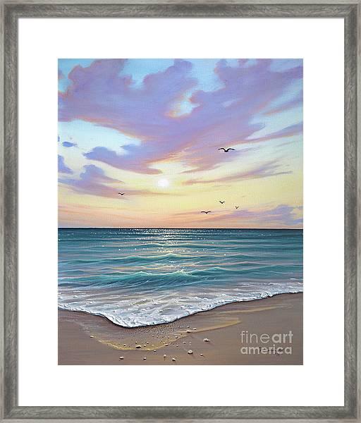 Basking In The Sunset Framed Print