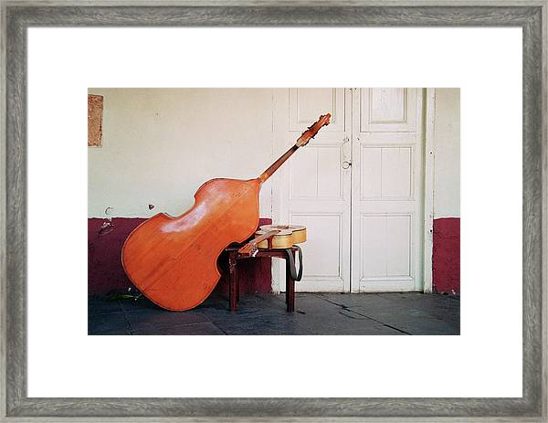 Bass And Guitar Framed Print