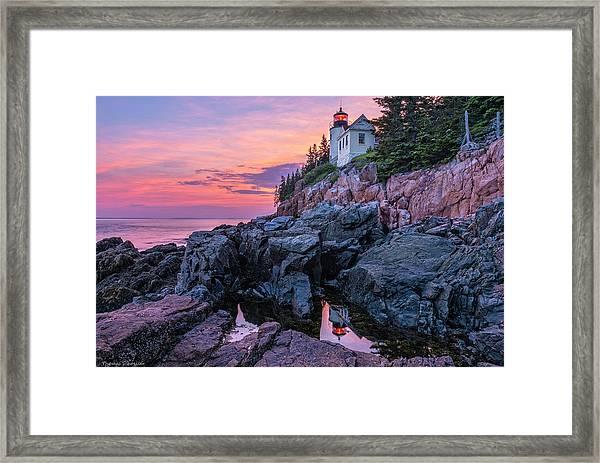 Bass Head Lighthouse - Acadia Framed Print
