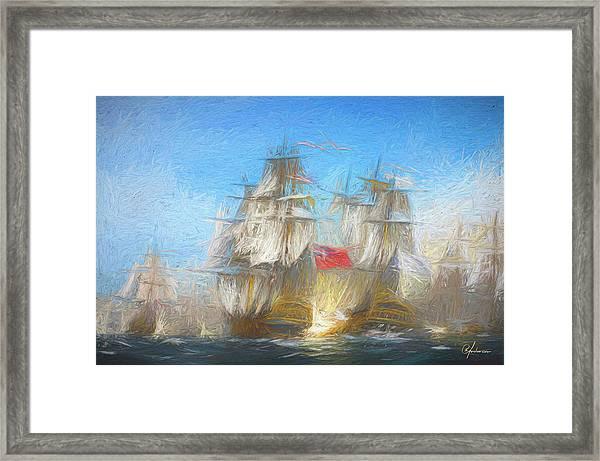 Battle Of Chesapeake Framed Print