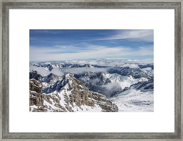 Framed Print featuring the photograph Bavarian Alps, Zugspitze by Dawn Richards