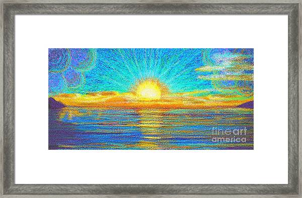 Beach 1 6 2019 Framed Print