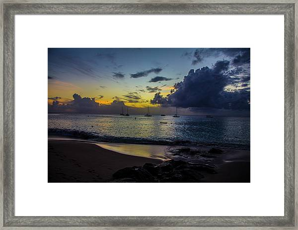 Beach At Sunset 3 Framed Print