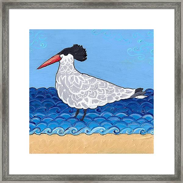 Beach Bird 3 Framed Print