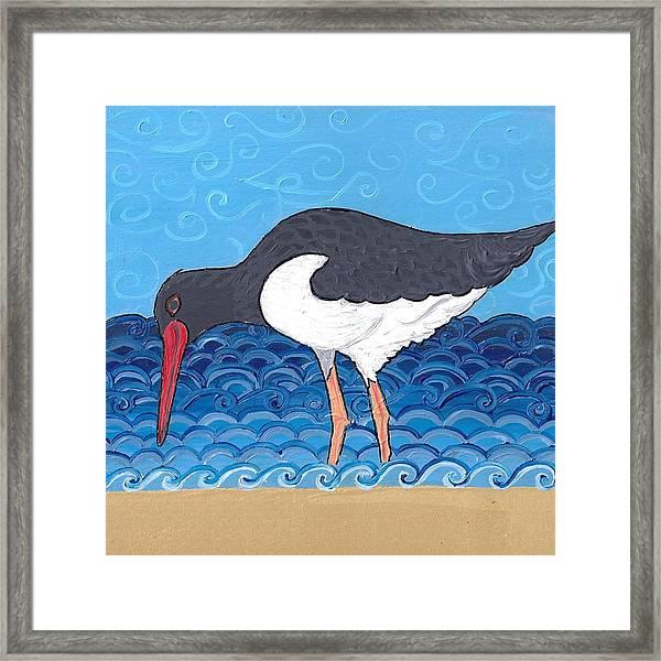 Beach Bird 4 Framed Print