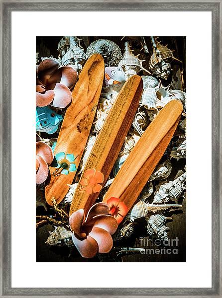 Beach Boards Framed Print