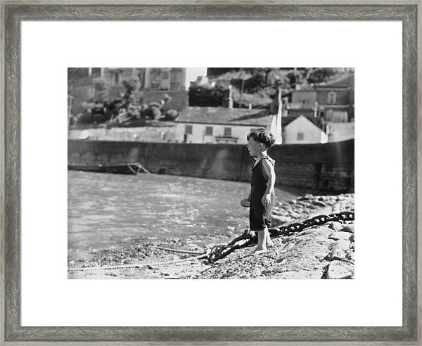 Beach Boy Framed Print