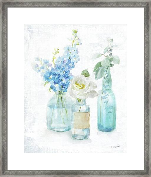 Beach Cottage Florals II - No Shells Framed Print