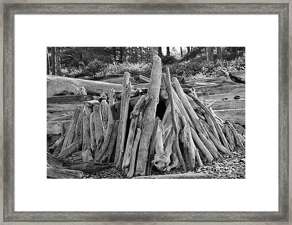 Beach Fort Framed Print