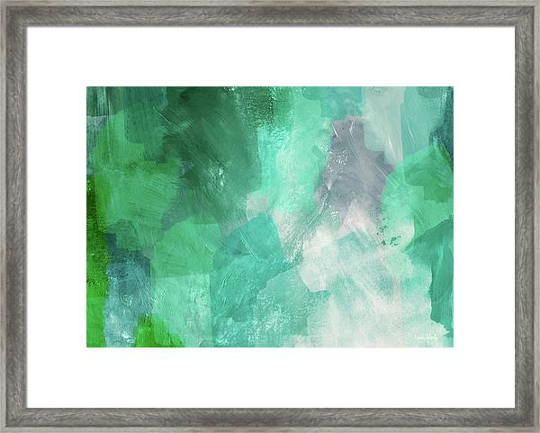 Beach Glass 3- Art By Linda Woods Framed Print