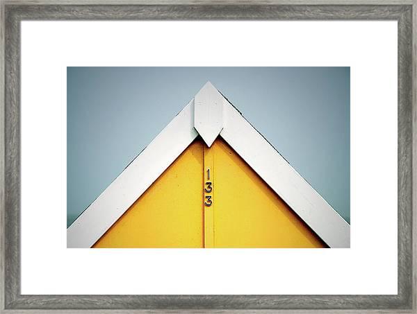 Beach Hut 133 Framed Print
