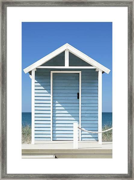 Beach Hut Framed Print