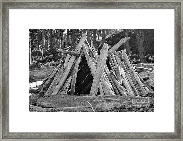 Beach Hut II Framed Print
