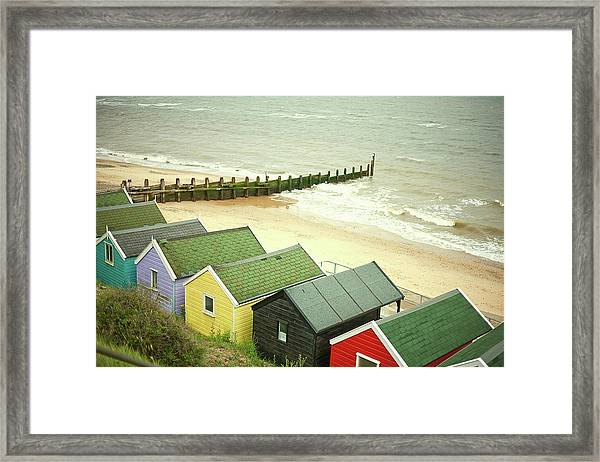 Beach Huts By The Sea, Southwold Framed Print
