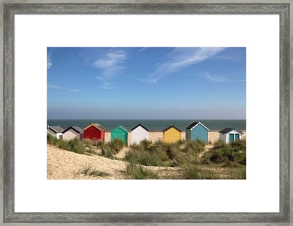 Beach Huts, Southwold, East Anglia Xxxl Framed Print