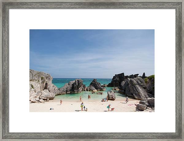 Beach In Bermuda Framed Print