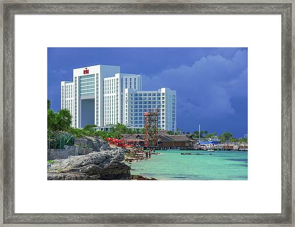 Beach Life In Cancun Framed Print