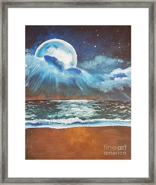 Beach Moon  Framed Print