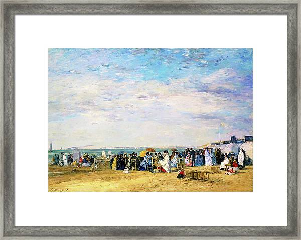 Beach Of Trouville - Digital Remastered Edition Framed Print