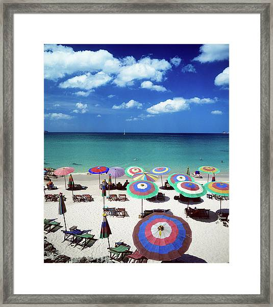 Beach Resort Framed Print