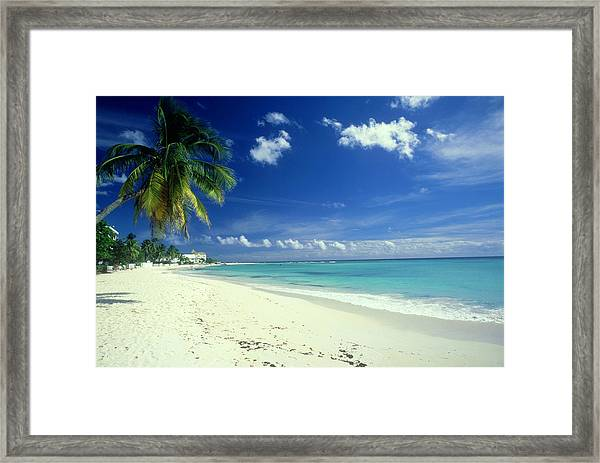 Beach Scene, Barbados Framed Print