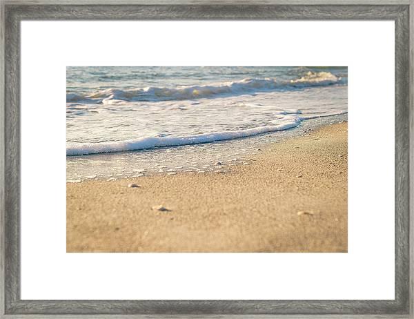 Beach Shorline Framed Print