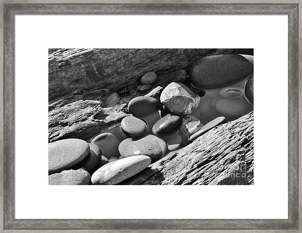 Beach Textures Framed Print