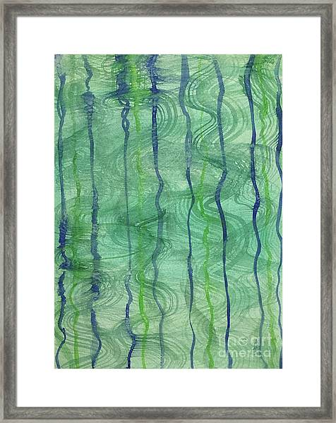 Beach Water Lines Framed Print