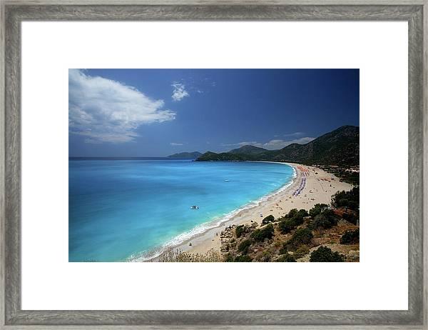Beach With Polarize Filter Framed Print by Kursad