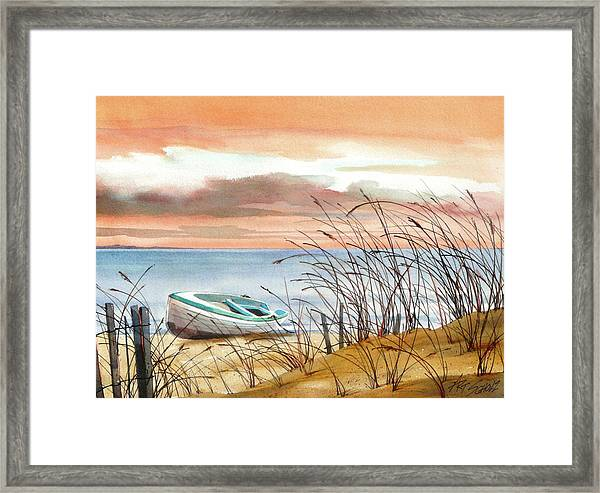 Beached In Breeze Framed Print by Art Scholz