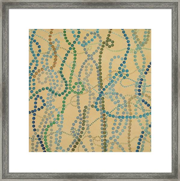 Bead And Pearls - Trendy Framed Print