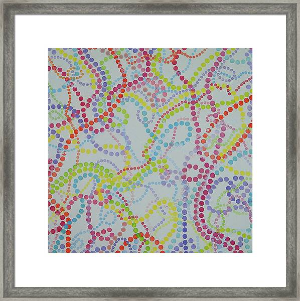 Beads And Pearls - Happy Day Framed Print
