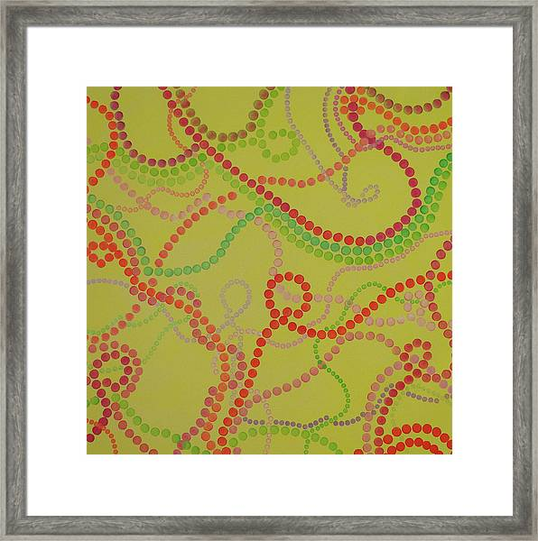 Beads And Pearls  - Happy Girl Framed Print