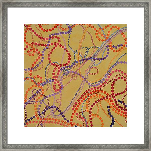 Beads And Pearls - Spicy 2 Framed Print