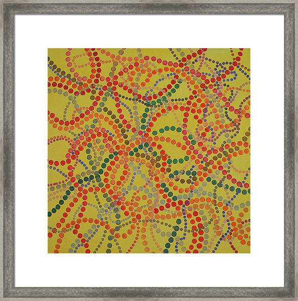 Beads And Pearls - Spicy Framed Print