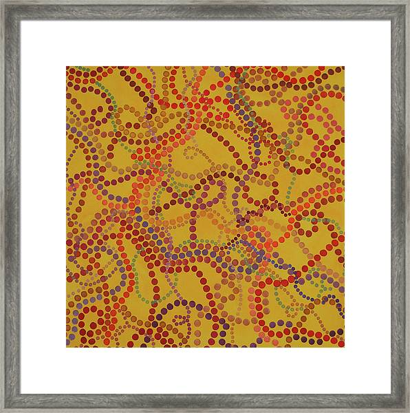 Beady And Pearls - Spicy 3 Framed Print