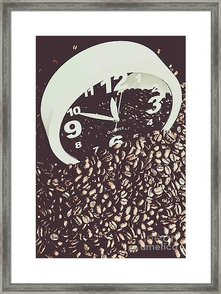 Bean Break Framed Print