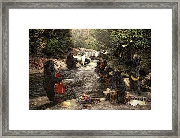 Bear Jam Framed Print